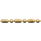 Smooth Bead And Barrel Chain Gold, Sterling Silver, Bronze Findings for Jewelry