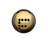 Palline a 2 Fori 45° con disegno Semilavorati in Oro e Argento per Gioielli
