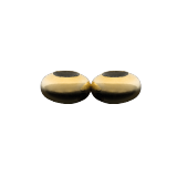 Twin Doughnut Stoppers Gold, Sterling Silver, Bronze Findings for Jewelry
