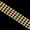 Catena a Palline Multifile Semilavorati in Oro, Argento e Bronzo per Gioielli